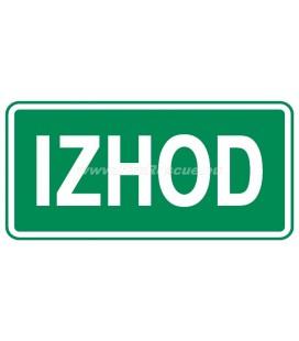 EVACUATION LABEL IZHOD